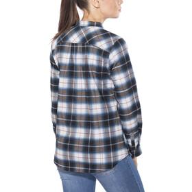 Royal Robbins Merinolux Plaid - Camiseta de manga larga Mujer - azul/blanco